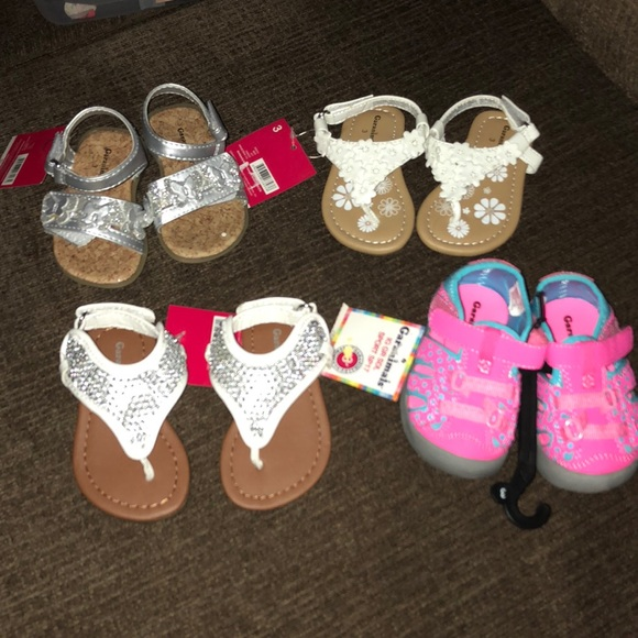ed31eccfd Garanimals Shoes | 4 Pr Baby Girls Sandals New Sz 3 | Poshmark
